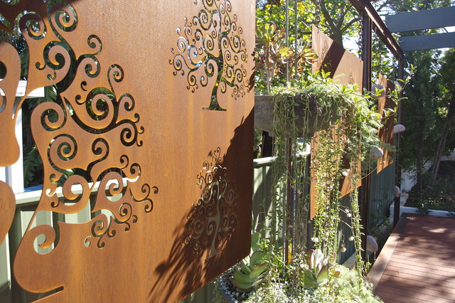 Corten Steel Garden Screens Contemporary Landscape