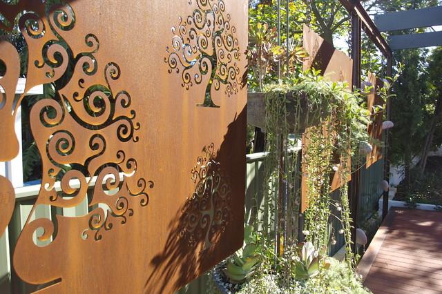 Corten Steel Garden Screens Contemporary Landscape