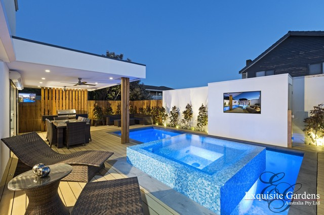 Courtyard modern landscape melbourne by exquisite for Courtyard landscaping melbourne