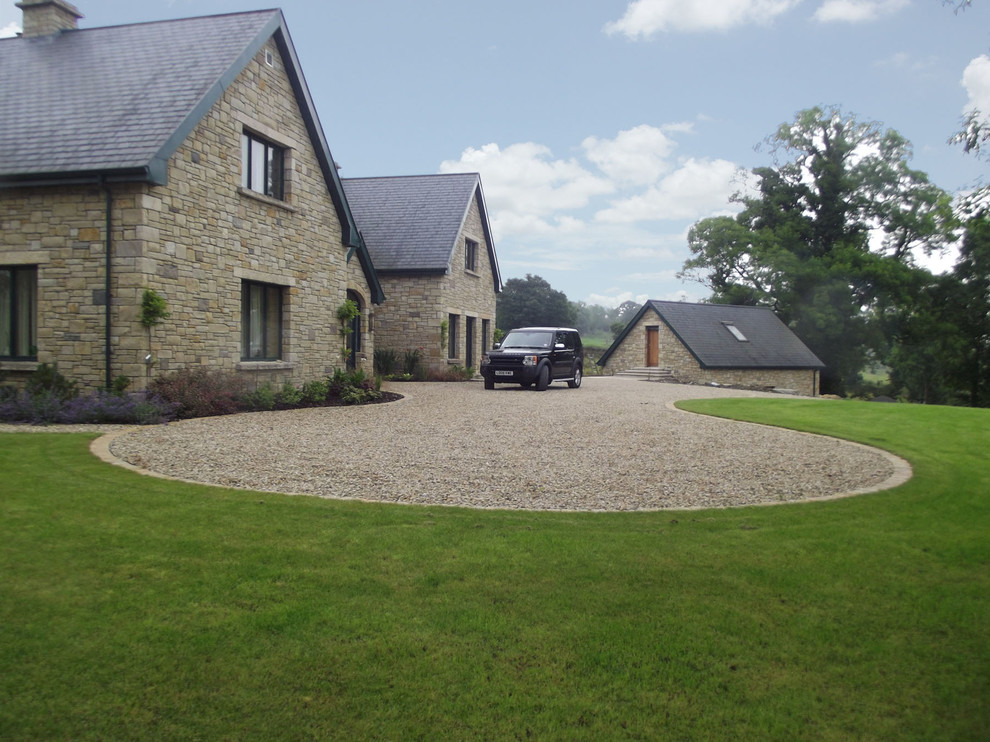Driveway Turning Circle Country Garden Other By