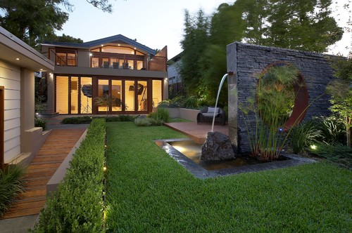 Contemporary Water Feature Landscape By Sydney Landscape Architects U0026  Landscape Designers Dean Herald Rolling Stone