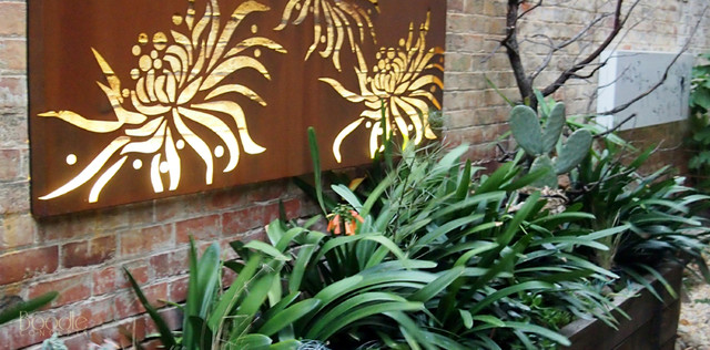 laser cut metal wall art courtyard design styling by boodle concepts eclectic landscape