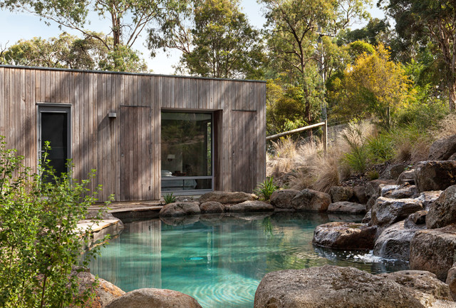 Eltham residence 1 rustic garden melbourne by lume for Pool design eltham