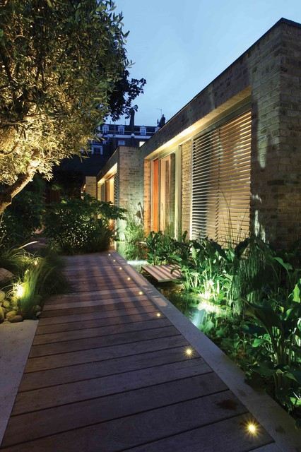 Entrance Lighting Contemporary Landscape London By