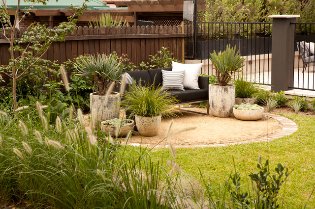 Landscape Garden Epping : Epping family entertainer cosy corner transitional landscape