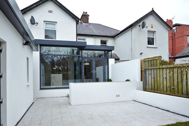 Extension to semi detached house bangor northern ireland for Semi d house garden design