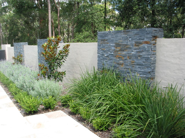Feature wall - Contemporary - Landscape - sydney - by ... on Backyard Feature Walls id=95789