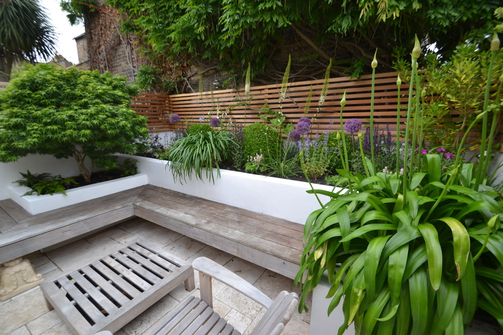 Floating Bench Garden Contemporary Landscape London By Living Colour Gardens