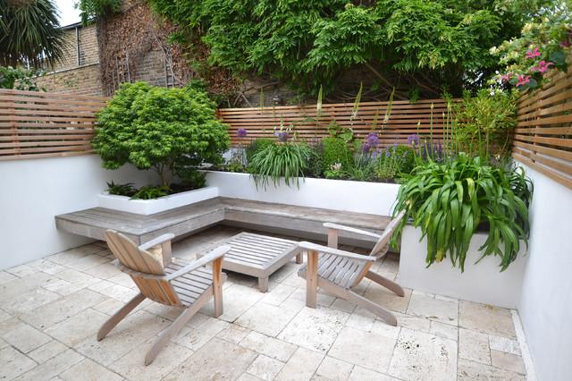 Floating Bench garden contemporary-traedgaard