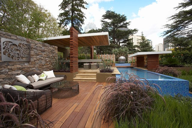 rolling stone landscapes, floating layers - contemporary - landscape - melbourne - by dean, Design ideen