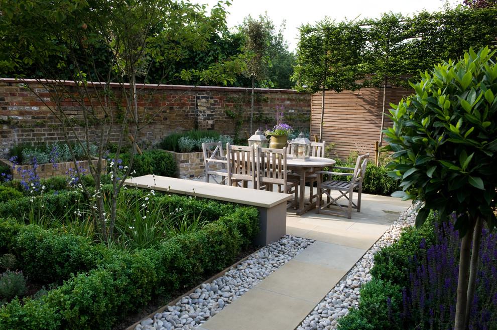 Formal Garden Barnes London - Eclectic - Landscape ...
