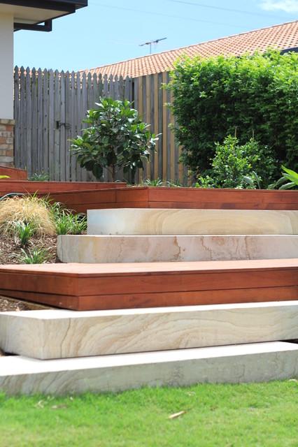 Front Entry Steps Modern Landscape Brisbane By Mgl
