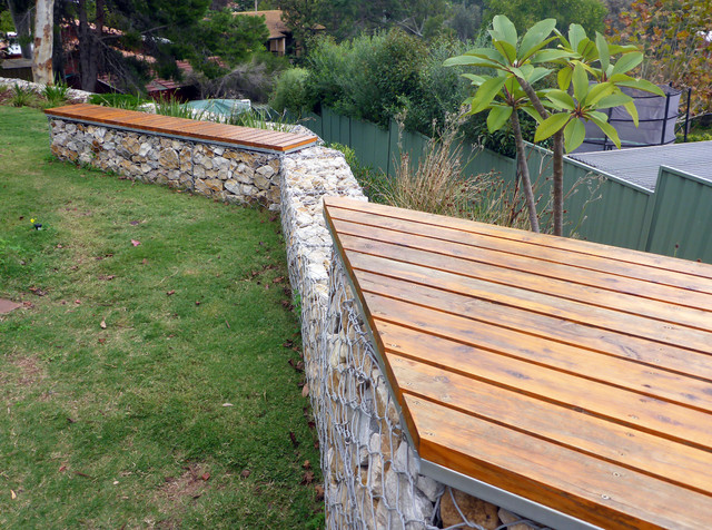 Gabion bench seats for Adelaide landscaping companies
