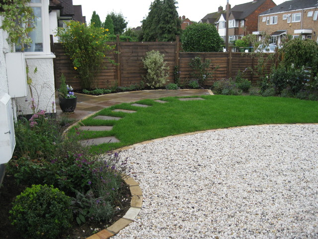 Garden driveway contemporary garden sussex by Low maintenance garden border ideas
