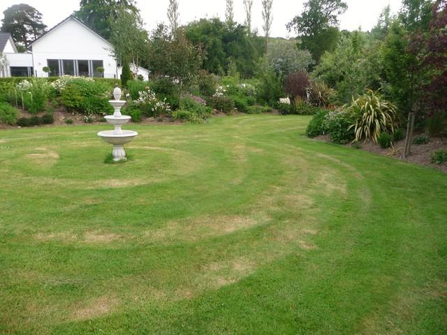 Garden Fountain On Circular Lawn Country Garden Dublin By Maximize Design Houzz Uk