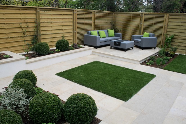 Hampstead Garden Transformation With New Fence Panels - Contemporary ...