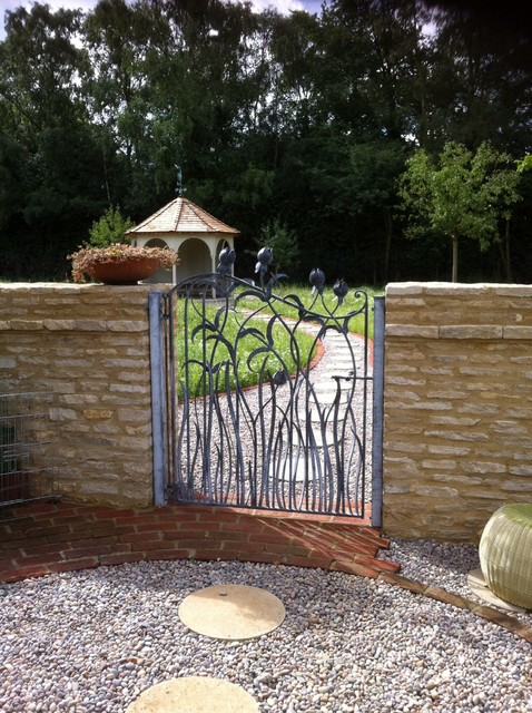 Hand forged garden gate contemporary london