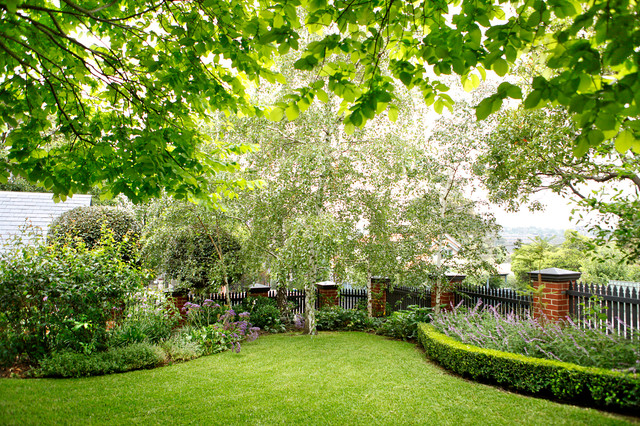 Hawthorn project traditional garden melbourne by for Barker landscape architects