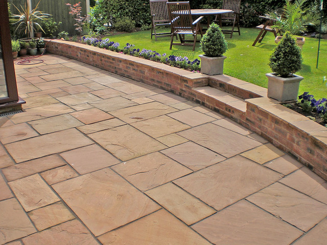 Indian Stone Patios - Traditional - Landscape - West ...
