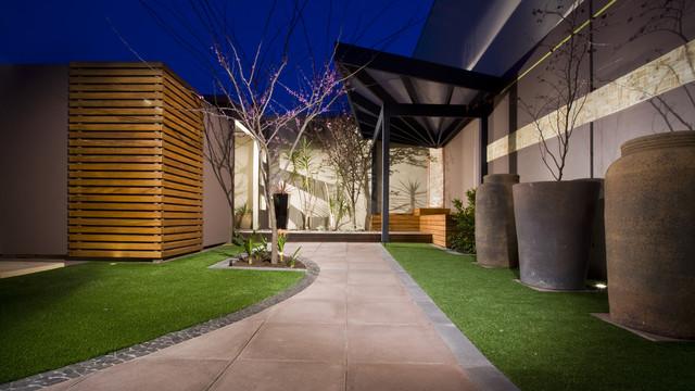 Landscape construction modern landscape adelaide for Landscape contractors adelaide