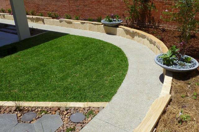 Landscaping perth vicki 39 s house contemporary landscape for Landscape design perth