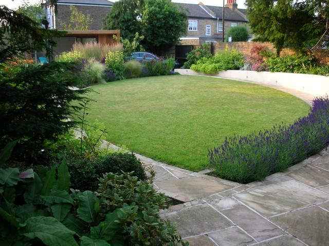 Large Town Garden Contemporary Garden London by