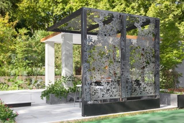 laser cut metal pergolas eclectico jardin - Pergolas Jardin