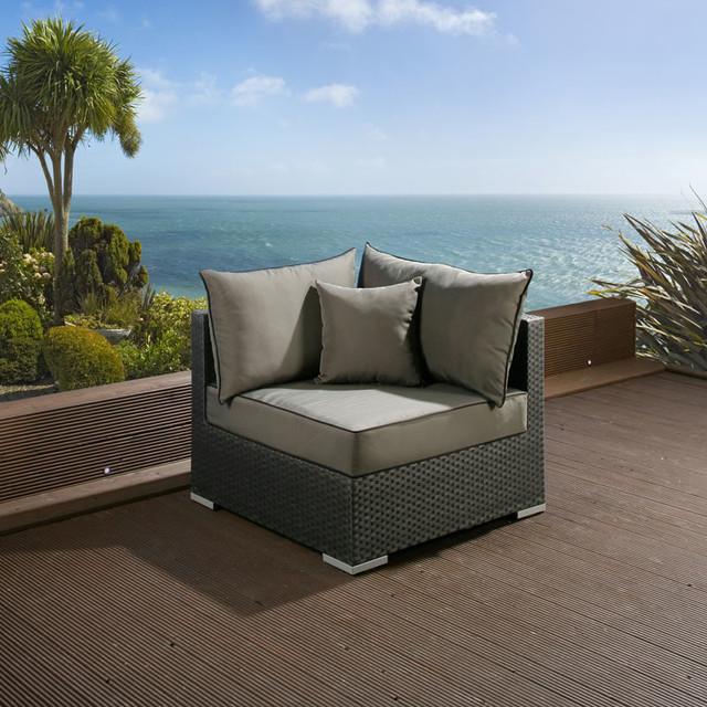 c2d7fb201dd8 Luxury Square Rattan Corner Sofa Piece - Modern - Garden - West ...