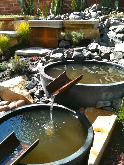 Natural stream water feature Eclectic Landscape