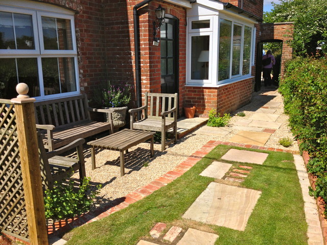 New Forest Cottage Garden Front Seating Area Farmhouse Landscape South