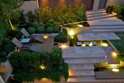Backyard lighting ideas. Photo credit: Contemporary Landscape by Sydney Landscape Architects & Landscape Designers Art in Green