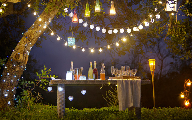 Outdoor Lighting Shabby Chic Style Landscape