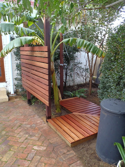 Outdoor Shower Beach Style Landscape Perth By