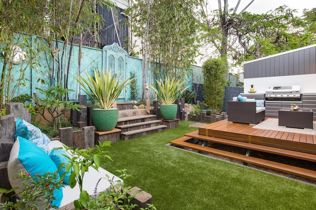 Paddington courtyard eclectic landscape brisbane for Courtyard landscaping brisbane