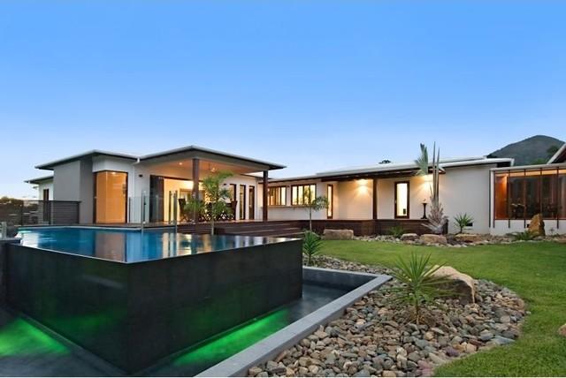 Pavilion house asian garden brisbane by skale for Pavillion home designs australia