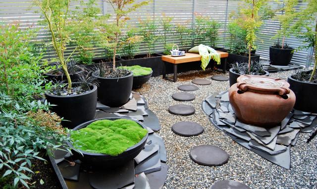 Rear Courtyard Makeover Asian Landscape Canberra
