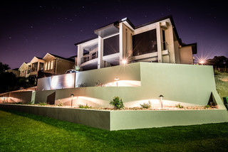 Rendered Retaining Walls Modern Garden Adelaide By Adelaide Retaining Walls