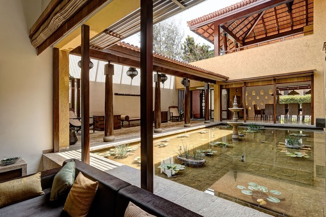 Residence by ar deepak guggari indian patio pune for Architecture design for home in pune