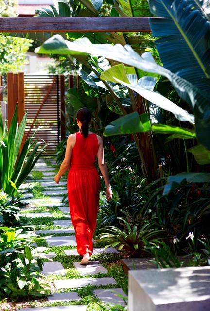Secret landscape design oasis in sydney tropical for Landscape design sydney