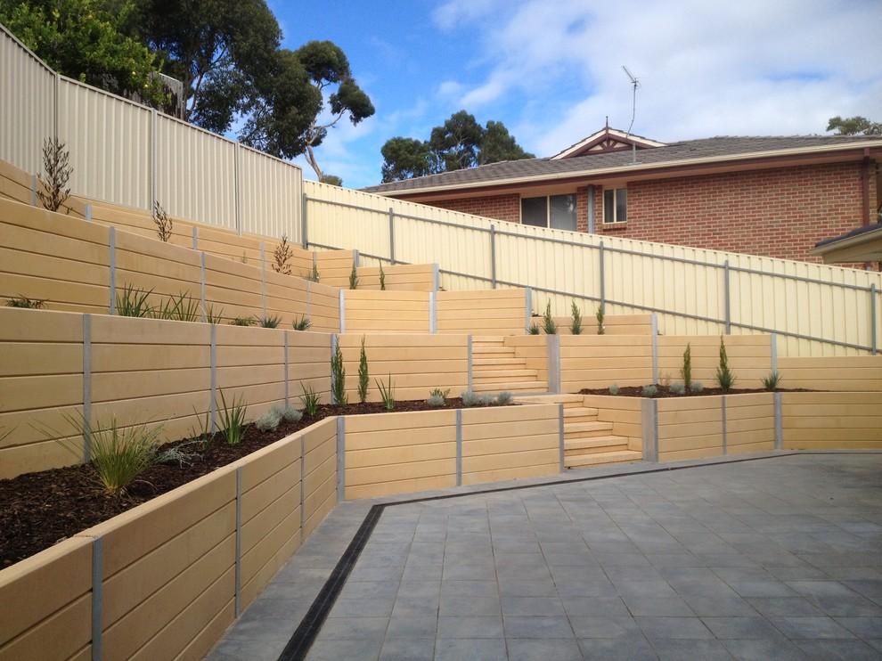 Sleeper Retaining Walls Modern Landscape Adelaide By Adelaide Retaining Walls