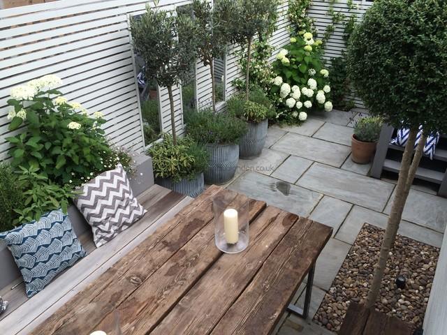 Slim Rear Garden Modern Garden