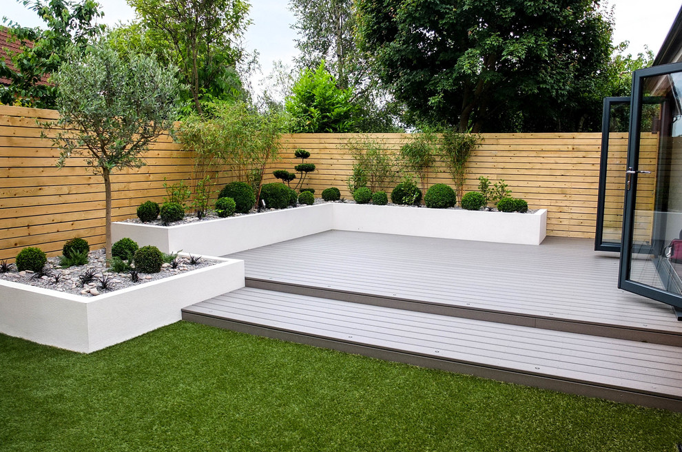Small, low maintenance garden - Contemporary - Landscape ...