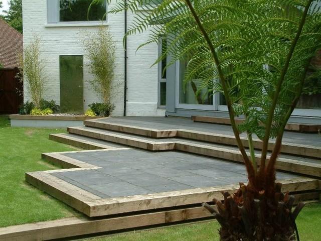 Starlight Bench Garden Contemporary Garden