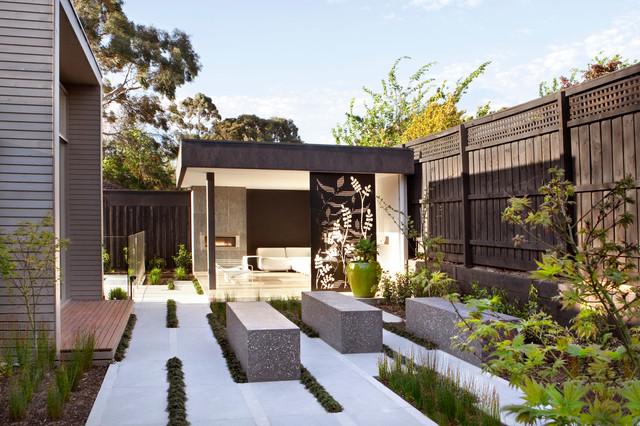 Surrey hills project contemporary garden melbourne for Barker landscape architects