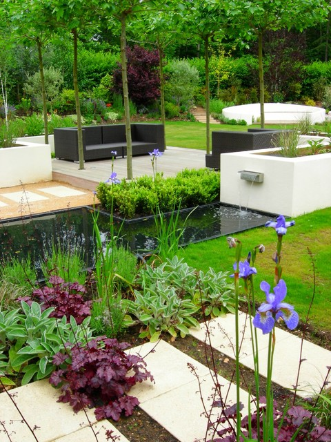 The howard garden contemporary garden surrey by for Suzhou architecture gardens landscape planning design company limited