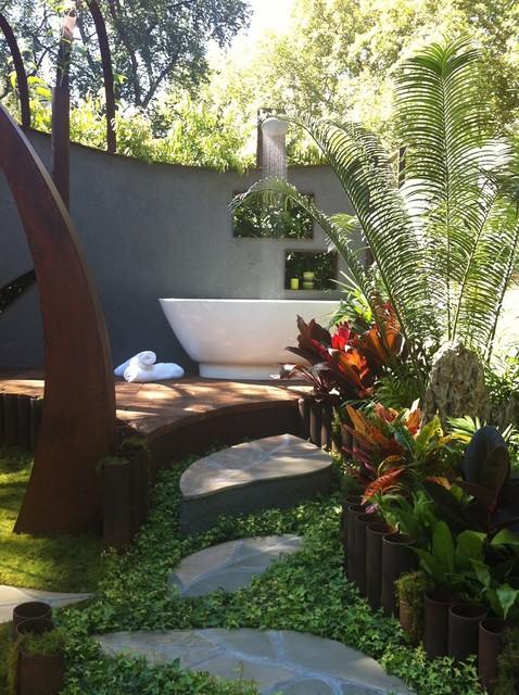 The ultimate outdoor shower tropical landscape for Ultimate landscape design