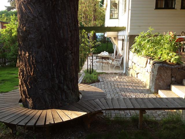Inspiration for a scandinavian garden in Stockholm.