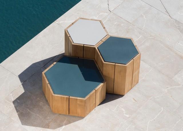 Tribu Hexagon Garden Coffee Table Designed By Marc Merckx Modern Garten London Von Go Modern Furniture