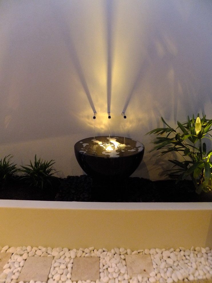 Tropical, modern small spaces - Tropical - Landscape ...
