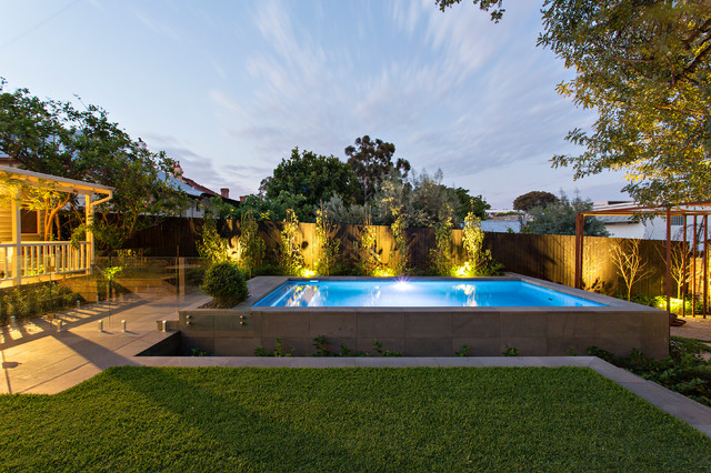 West leederville rustic landscape perth by tim for Davies landscape architects